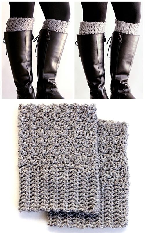 DIY Crochet Boot Cuffs Free Crochet Patterns -Easy Reversible Boot CuffsFree Crochet Pattern