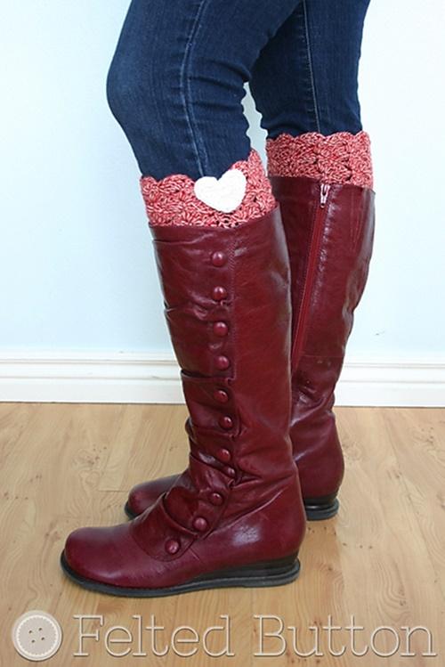 Fab Art DIY Free Crochet Boot Cuffs Patterns Round Up