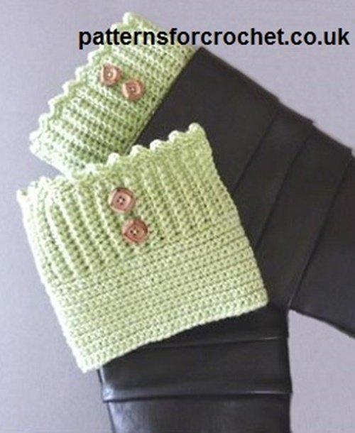 DIY Crochet Boot Cuffs Free Crochet Patterns -Stretchy Boot CuffsFree Crochet Pattern