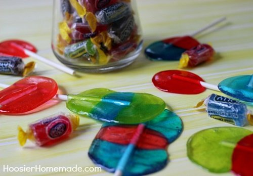 Fab Art DIY Homemade Jolly Rancher Lollipops1