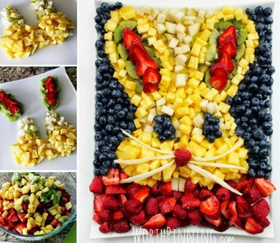 DIY Bunny Fruit Platter