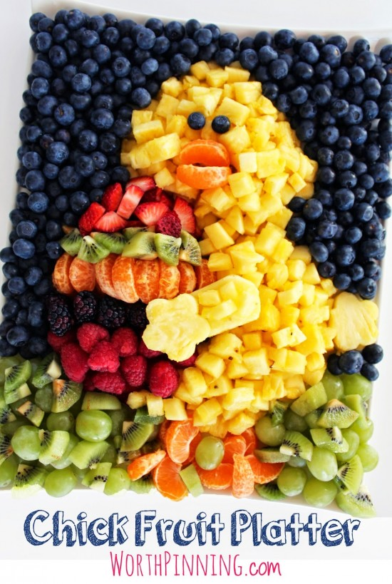 DIY Chick Fruit Platter