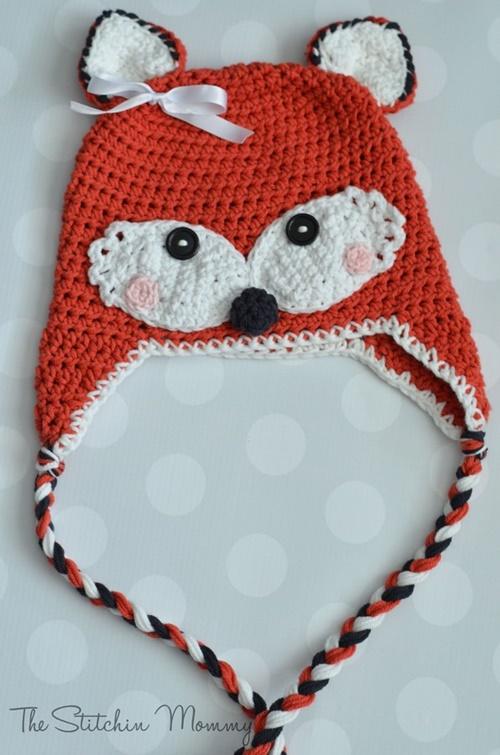 Cute Crochet Baby Animal Hat Free Crochet Patterns - CrochetfoxHatFree Crochet Pattern