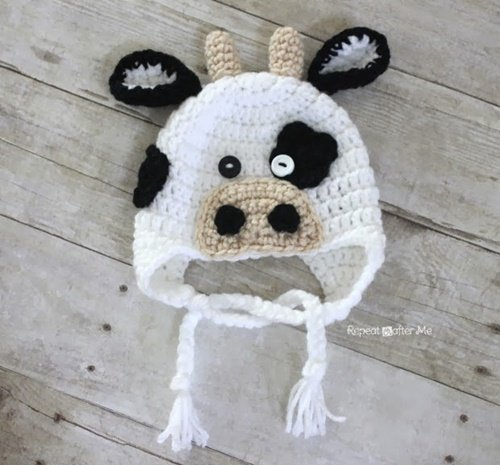 Free Crochet Pattern Baby Girl Boots : DIY Crochet Baby Animal Hat Patterns