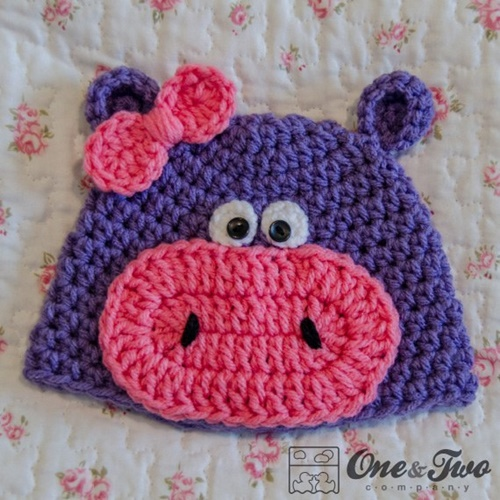 Free Crochet Pattern Baby Girl Boots : DIY Crochet Baby Animal Hat Patterns www.FabArtDIY.com