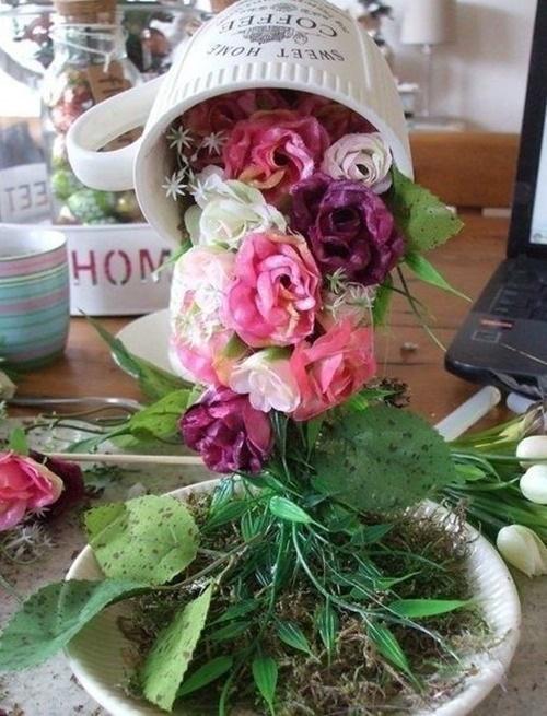 FabArtDIY Easter Egg Tabletop vôo Cup Topiary6