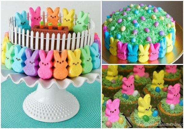 FabArtDIY Easter Peep Cakes and Desserts