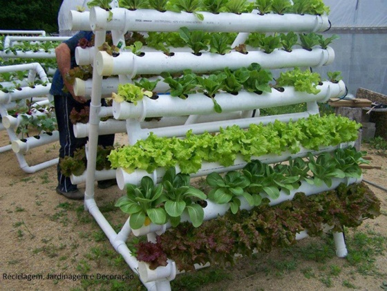 DIY PVC Gardening Ideas and Projects - PVC Verticle Planter Tower