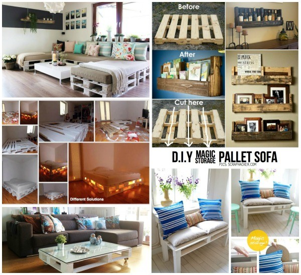 DIY Pallet Home Decorating and Furniture Projects and Tutorials Roundup