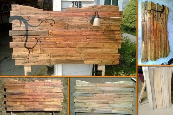 DIY Pallet Headboard-DIY Pallet Home Decorating and Furniture Projects and Tutorials