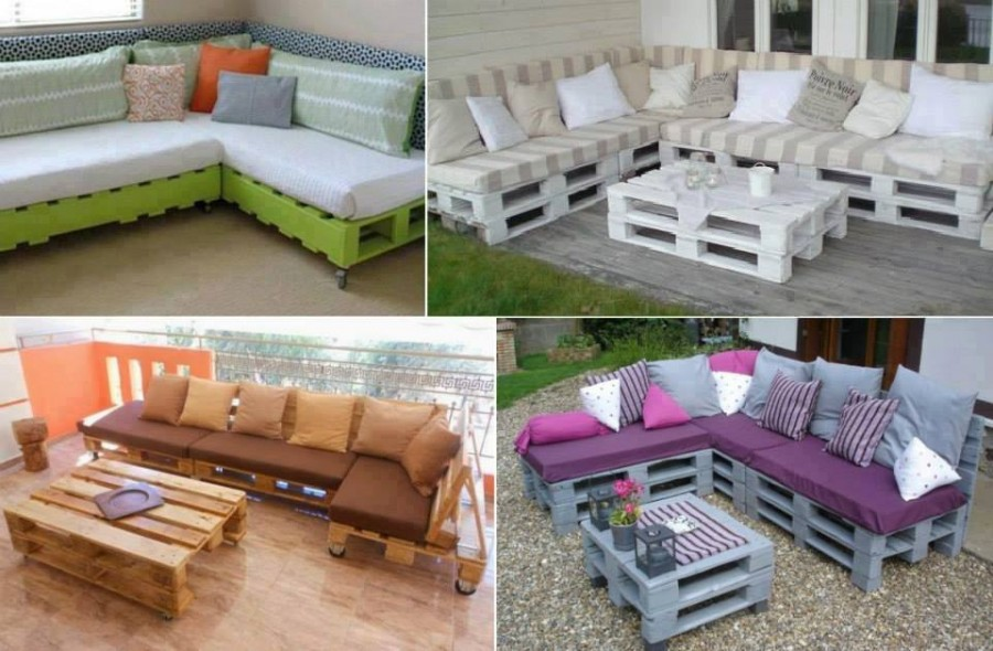 Diy pallet home furniture projects for Sofa de palets exterior