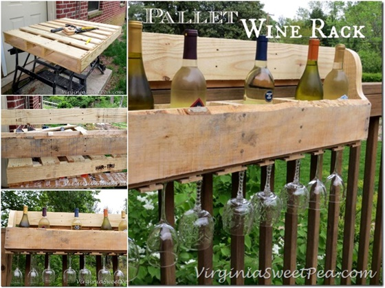 DIY Pallet Wine Rack-DIY Pallet Home Decorating and Furniture Projects and Tutorials