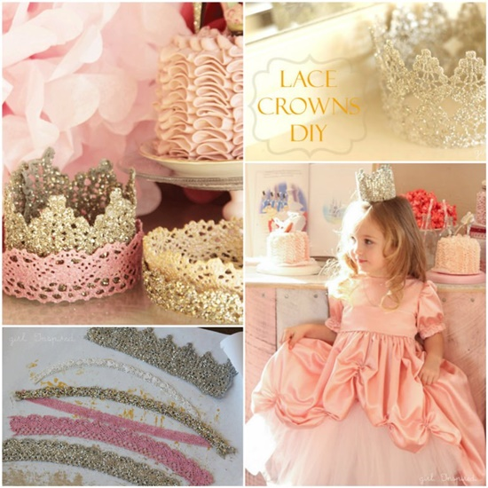 DIY Princess Lace Crown Tutorial