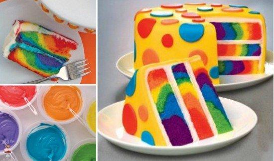 FabArtDIY Tie Dye Rainbow Cake tutorial