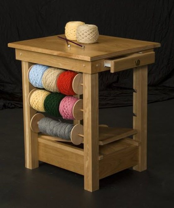 Wooden Knitting Wool Holder : Diy ideas and projects of household yarn holders