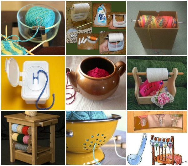 FabArtDIY Yarn holder Ideas and Projects