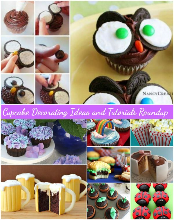 Fabartdiy Cupcake Decorating Ideas and Tutorials Roundup
