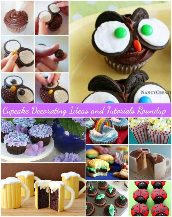 Fabartdiy Cupcake Decorating Ideas and Tutorials Roundup & 25+ Amazing DIY Surprise Cupcake Decorating Ideas and Tutorials