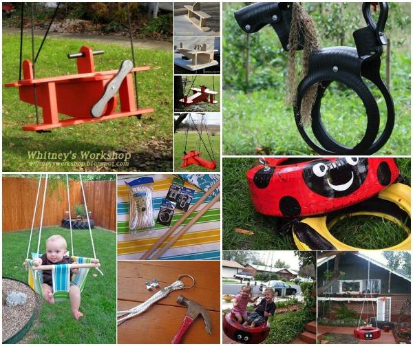 Fabulous DIY Patio and Garden Swings for kids