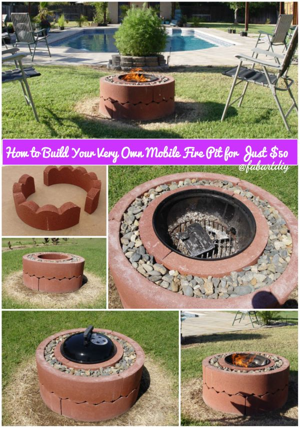 How to Build Your Very Own Mobile Fire Pit for Just $50