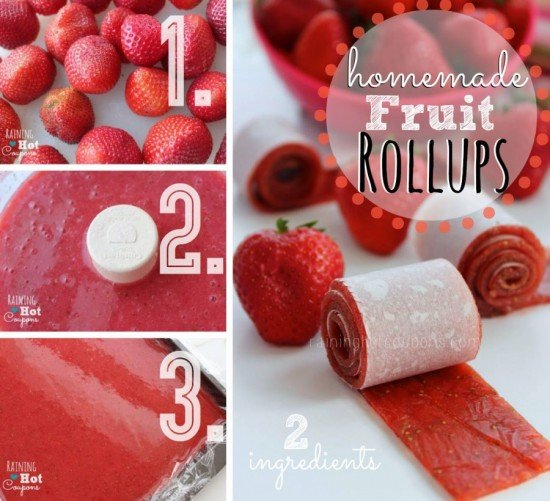 ow to DIY 2-Ingredient Strawberry Fruit Rollups