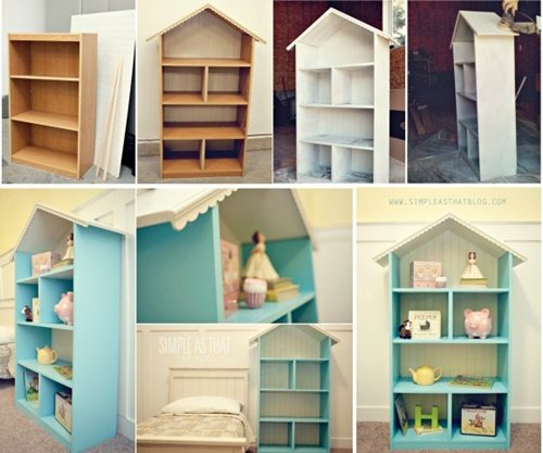 Bookcase How To Diy Doll House Book Case