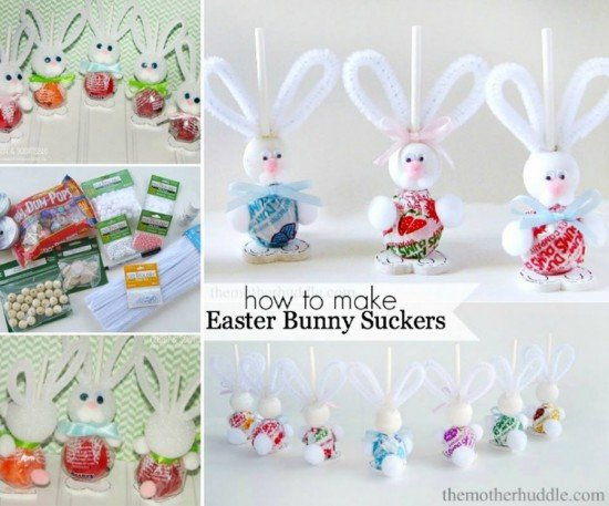 DIY Easter Bunny Suckers Gift Tutorial