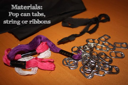 How to DIY Pop Tab Bracelet Tutorial 1