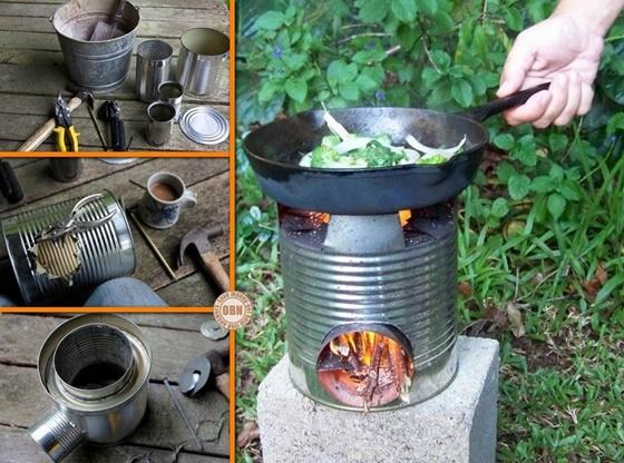 Diy portable tin can rocket stove for Tin can diy