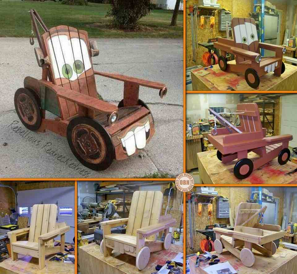 How to DIY Tow Mater Truck Chair