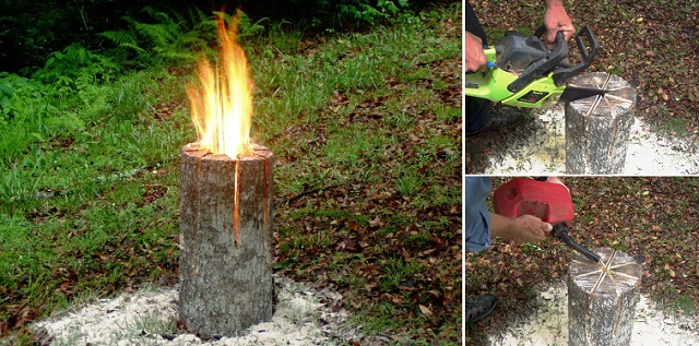 How to DIY a Swedish Log Candle