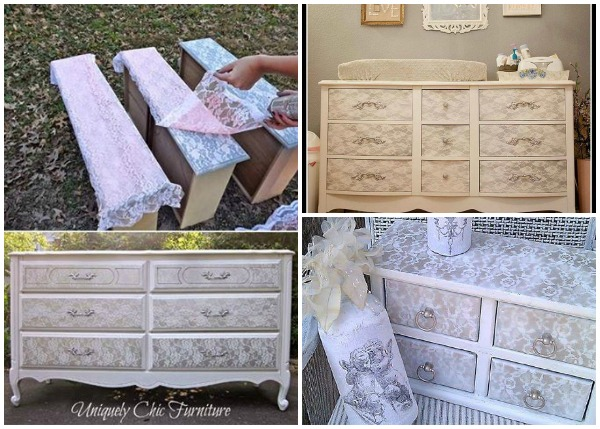 Diy Lace Painted Furniture