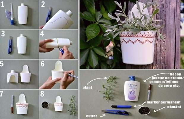 Diy ideas and projects to recycle plastic bottles for Use of waste material in decoration
