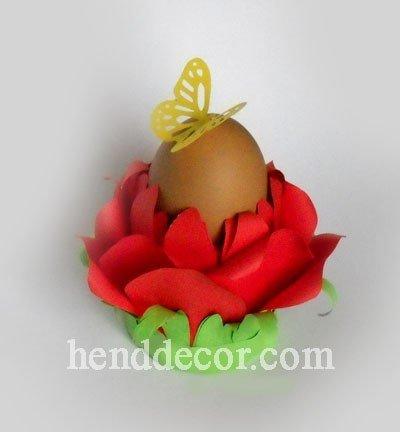 easter egg flower holder