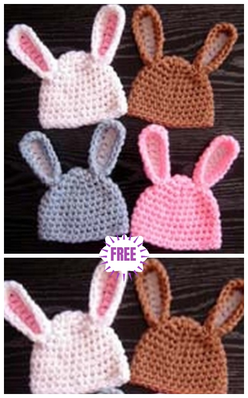 Crochet Easter Bunny Projects Free Crochet Patterns & Paid - Crochet Easter Bunny Hat Free Crochet Pattern