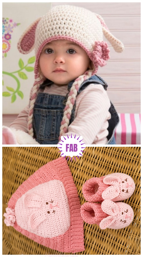 Sweet Bunny Easter Hat Free Crochet Patterns