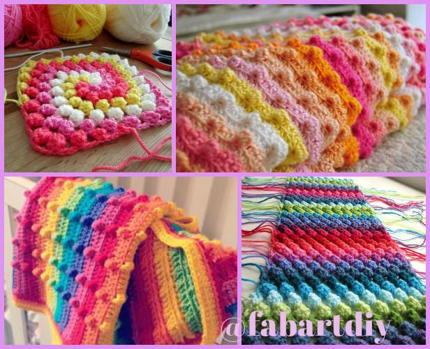 Puffy Crochet Baby Blanket Pattern : DIY Crochet Puff Stitch Blanket Free Pattern