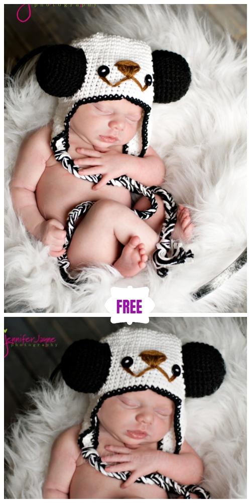 Cute Crochet Baby Animal Hat Free Crochet Patterns - Crochet Crochet Panda HatFree Pattern
