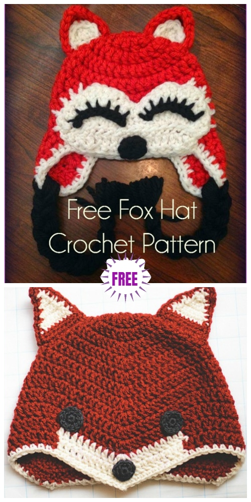 Cute Crochet Baby Animal Hat Free Crochet Patterns - CrochetfoxHatFree Crochet Patterns