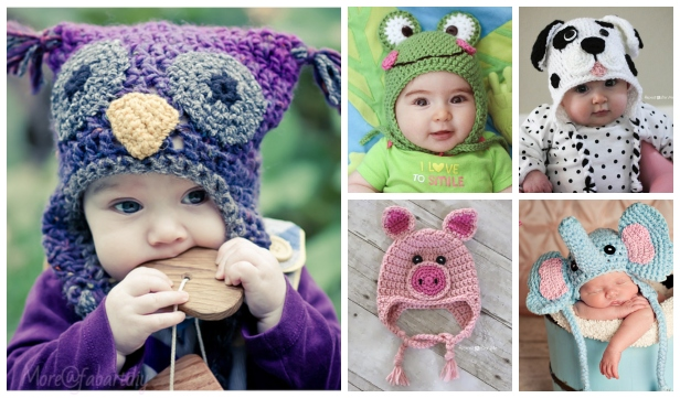 20 Cute Crochet Baby Animal Hat Free Crochet Patterns