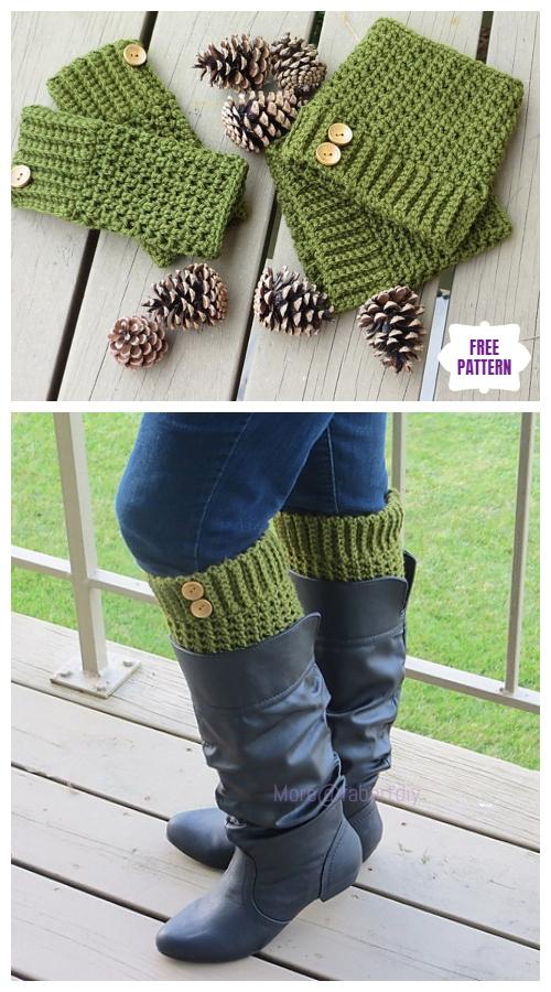 DIY Crochet Boot Cuffs Free Crochet Patterns -Brooklyn Boot CuffsFree Crochet Pattern