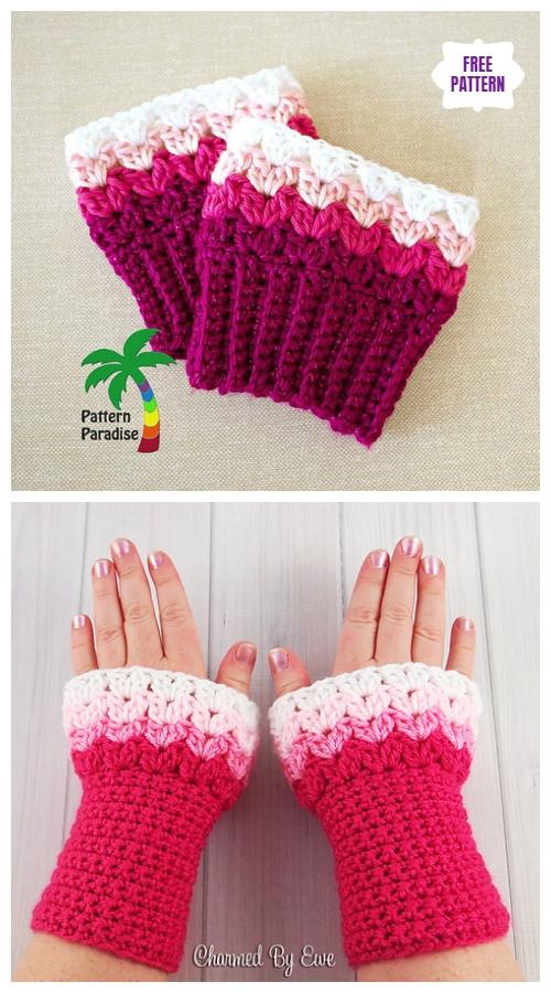 DIY Crochet Boot Cuffs Free Crochet Patterns-Sweetheart Boot Cuffs& Wrist WarmersFree Crochet Patterns