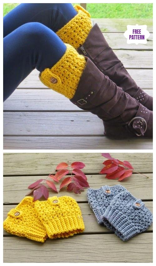 DIY Crochet Boot Cuffs Free Crochet Patterns -Bailey Boot CuffsFree Crochet Pattern