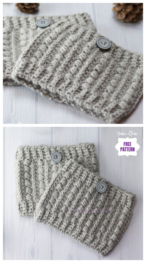 DIY Crochet Boot Cuffs Free Crochet Patterns -Malia Boot CuffsFree Crochet Pattern
