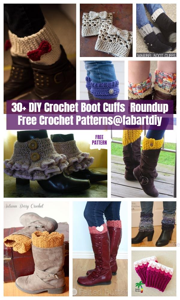 30+ DIY Crochet Boot Cuffs Free Crochet Patterns
