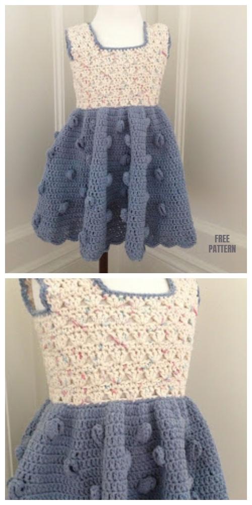 Field Of Flower Summer Toddler Dress Crochet Free Pattern