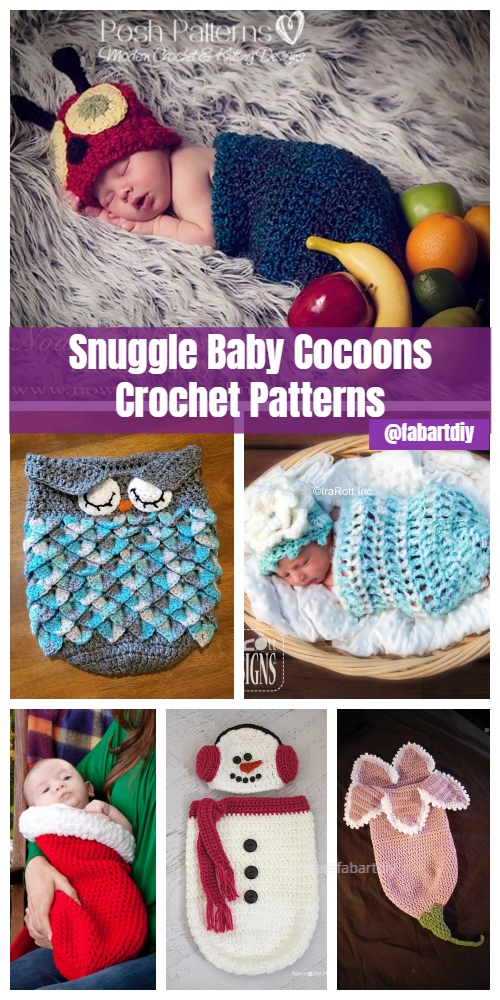 DIY Crochet Snuggle Cocoons Free Crochet Patterns & Paid