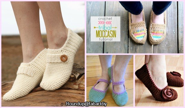 Crochet Women Slippers Shoe Patterns Free Paid Round Up