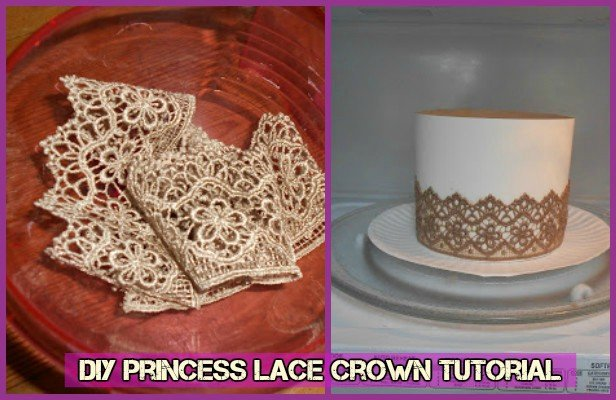 DIY Microwave Princess Lace Crown Tutorial