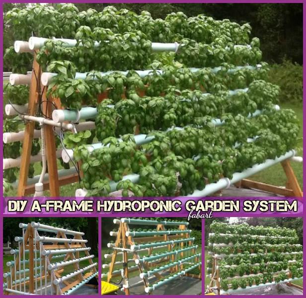 DIY A-Frame Vertical Hydroponic Garden System Tutorial-Video